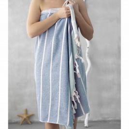 Πετσέτα Θαλάσσης-Παρεό Palamaiki Holy Blue