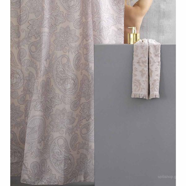 Κουρτίνα Μπάνιου (180x180) Palamaiki Cone