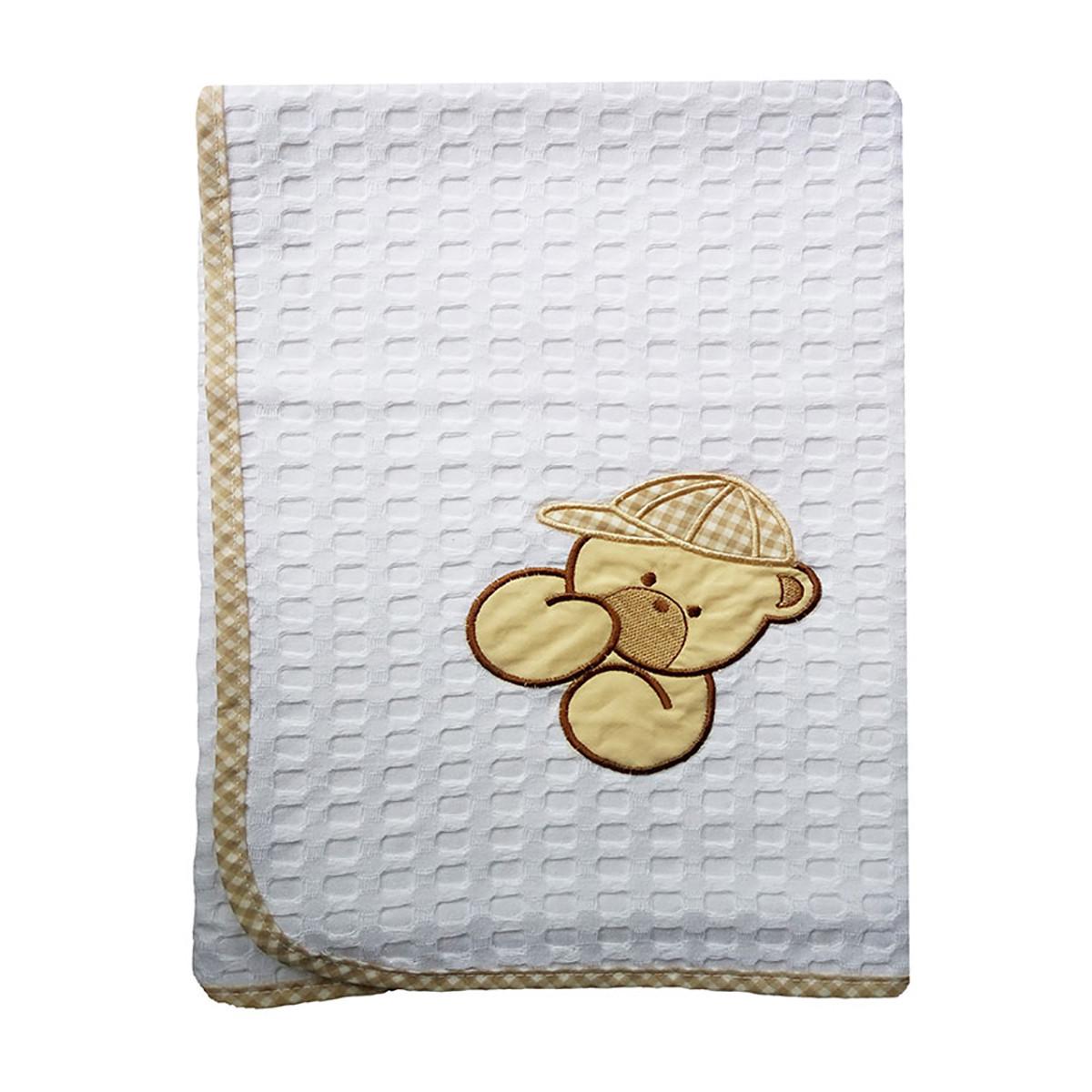 Κουβέρτα Πικέ Αγκαλιάς Dim Collection Αρκούδος 102