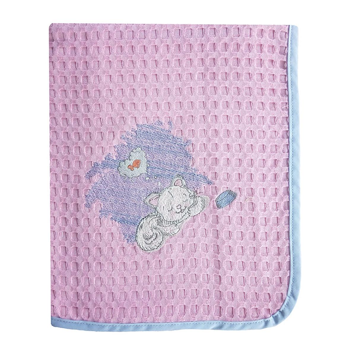 Κουβέρτα Πικέ Κούνιας Dim Collection Γατάκι 127