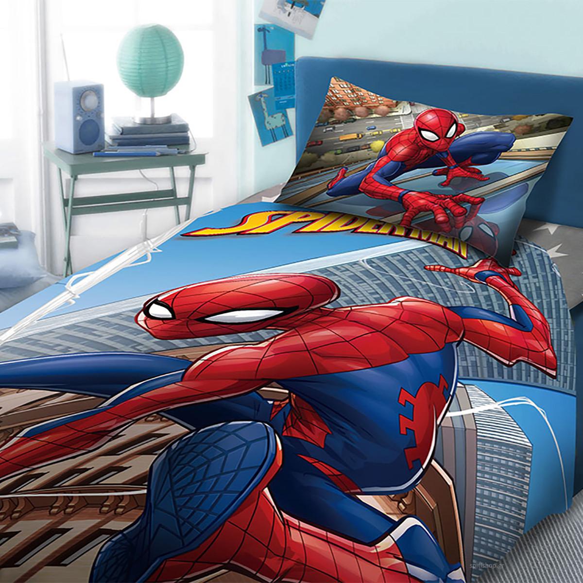 d60c502fefe -10% Spiti Shop Σεντόνια Μονά (Σετ 3τμχ) Dim Collection Spiderman 913