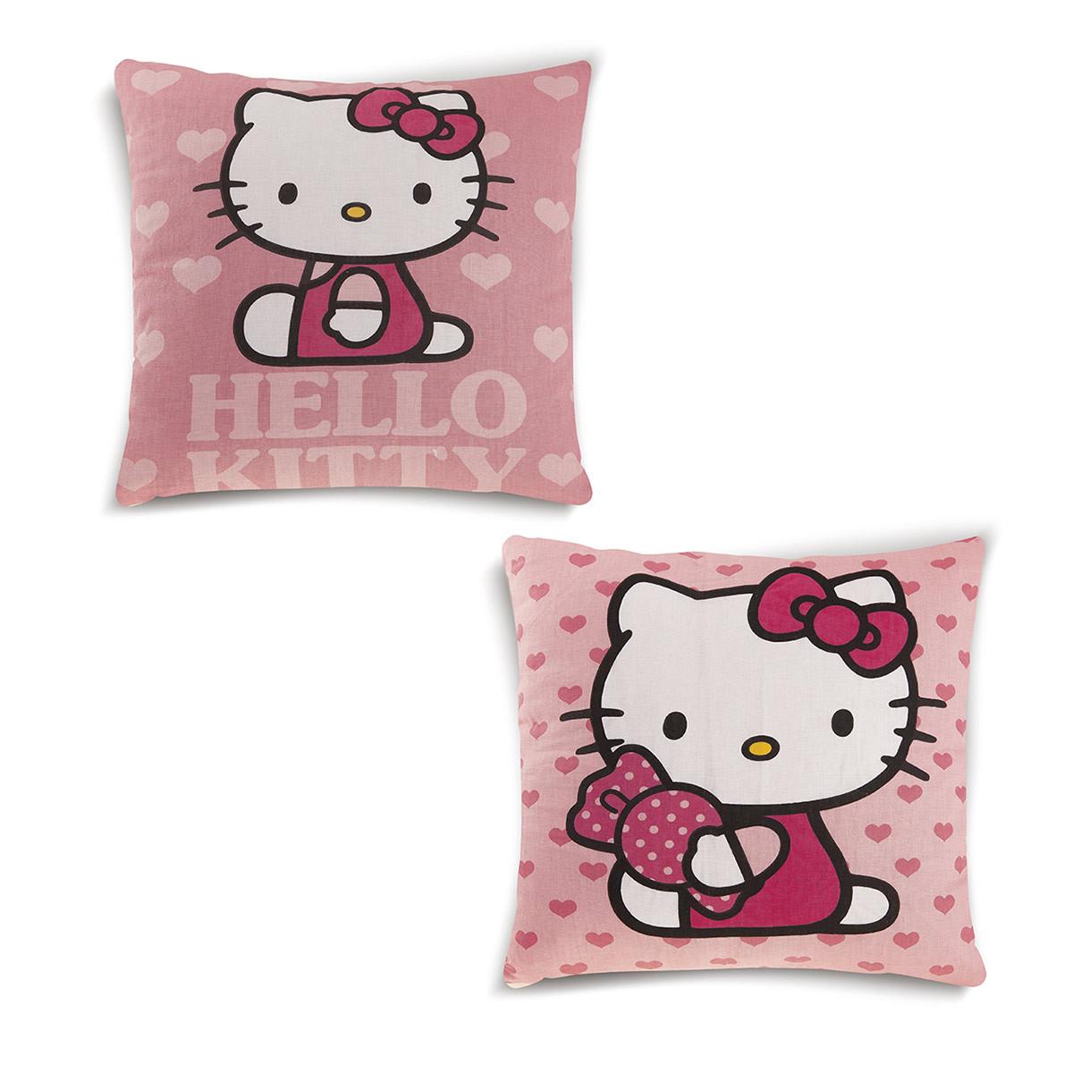 Διακοσμητικό Μαξιλάρι 2 Όψεων (40×40) DimCol Hello Kitty 01