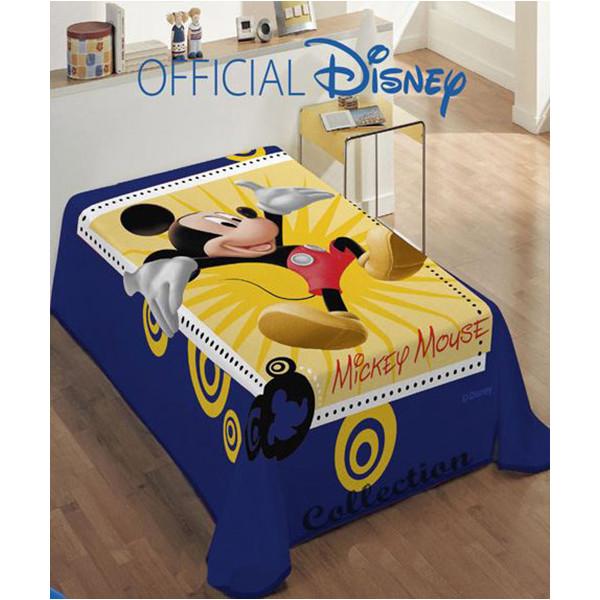 Κουβέρτα Βελουτέ Μονή Dimcol Mickey 563