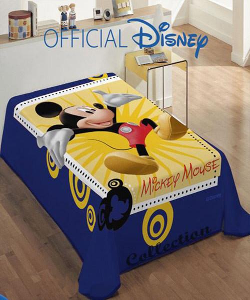 Κουβέρτα Βελουτέ Μονή Dim Collection Mickey 563