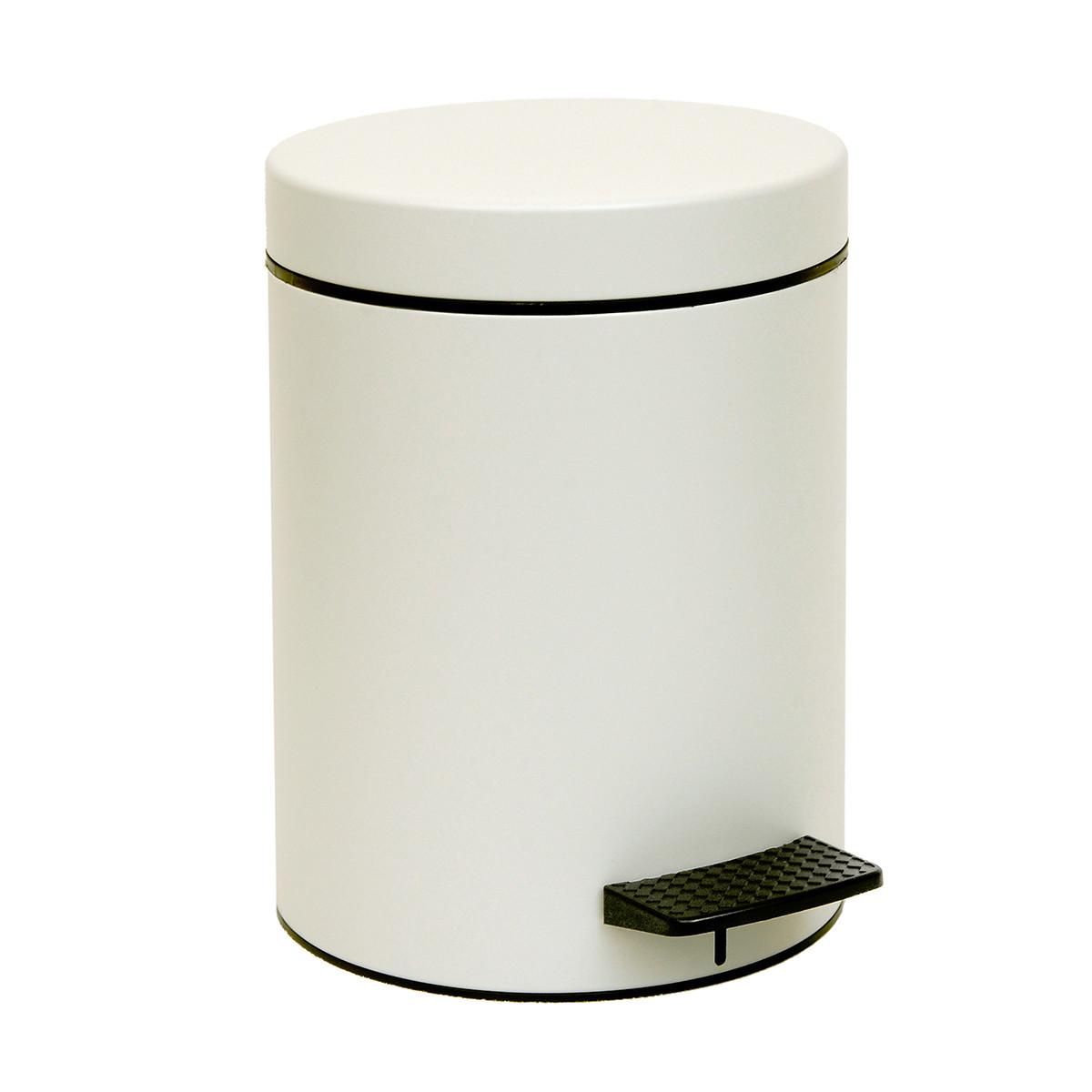 Κάδος Απορριμμάτων (20×28) PamCo 5Lit 96 Ice White Matte