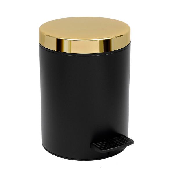 Κάδος Απορριμμάτων (20x28) PamCo 5Lit 106 Black Matte/Gold