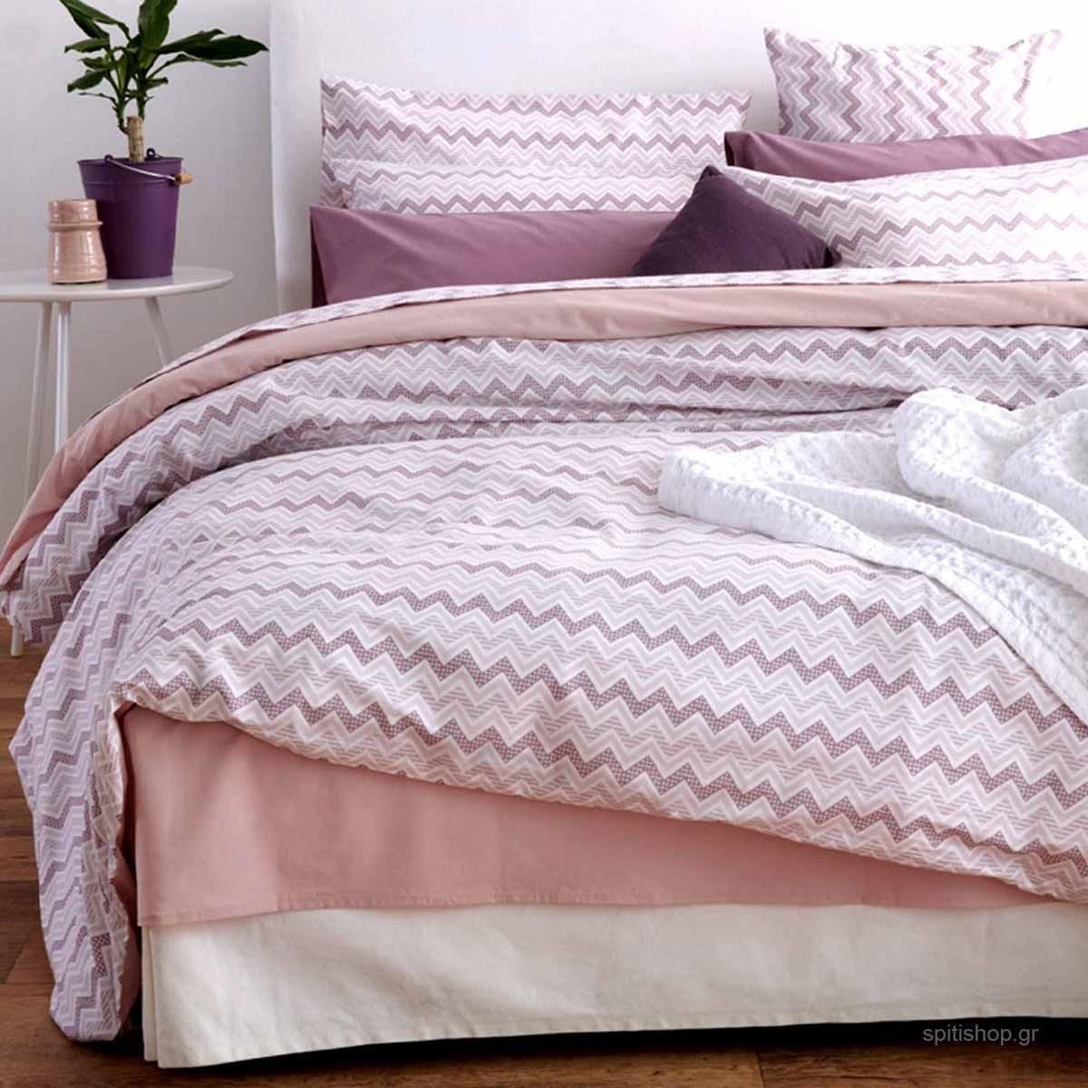 Κουβερλί Υπέρδιπλο Sb Home Waves Pink
