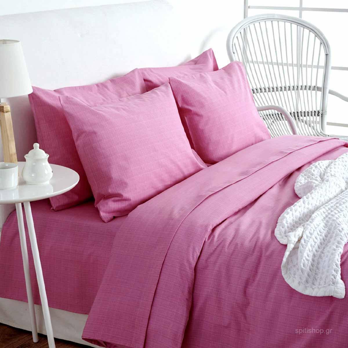 Σεντόνια Υπέρδιπλα (Σετ) Sb Home Lucifer Pink