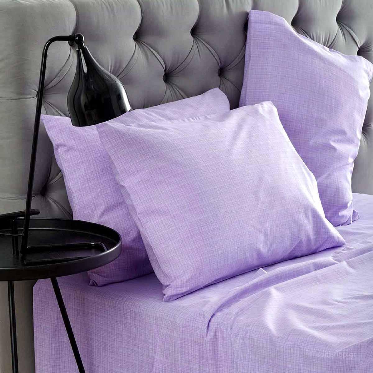 Σεντόνια Υπέρδιπλα (Σετ) Sb Home Lucifer Lilac