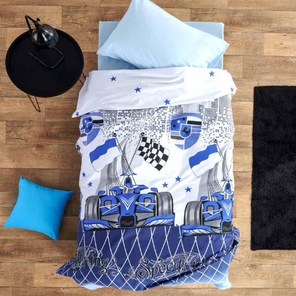 Σεντόνια Μονά (Σετ) Sb Home Junior Speed Blue