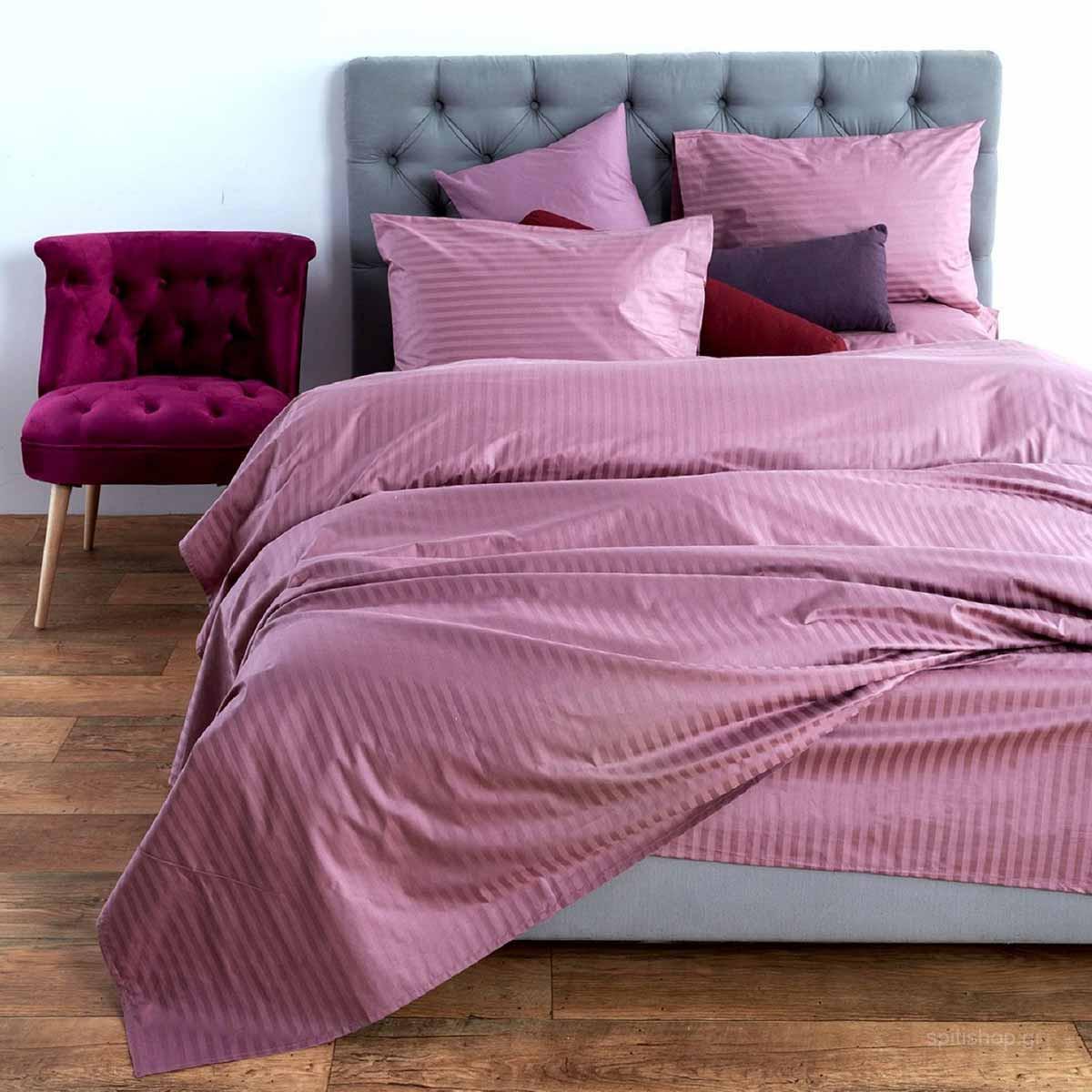 Σεντόνια Υπέρδιπλα (Σετ) Sb Home Elite Lusso Dusty Pink