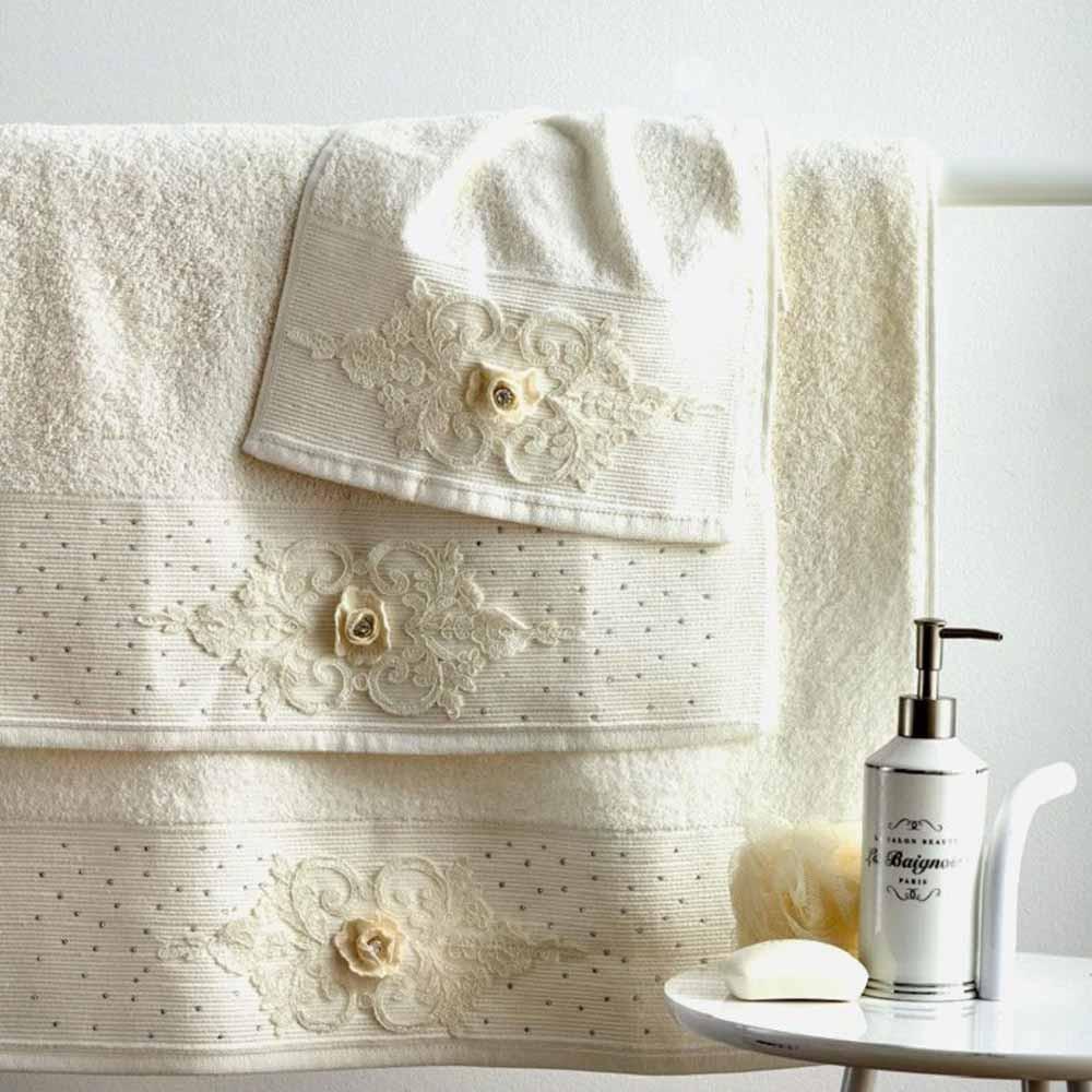 Πετσέτες Μπάνιου (Σετ 3τμχ) Sb Home Pamela