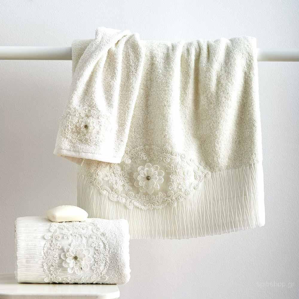 Πετσέτες Μπάνιου (Σετ 3τμχ) Sb Home Nataly