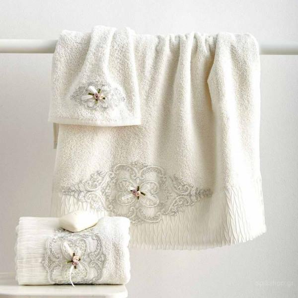 Πετσέτες Μπάνιου (Σετ 3τμχ) Sb Home Emily