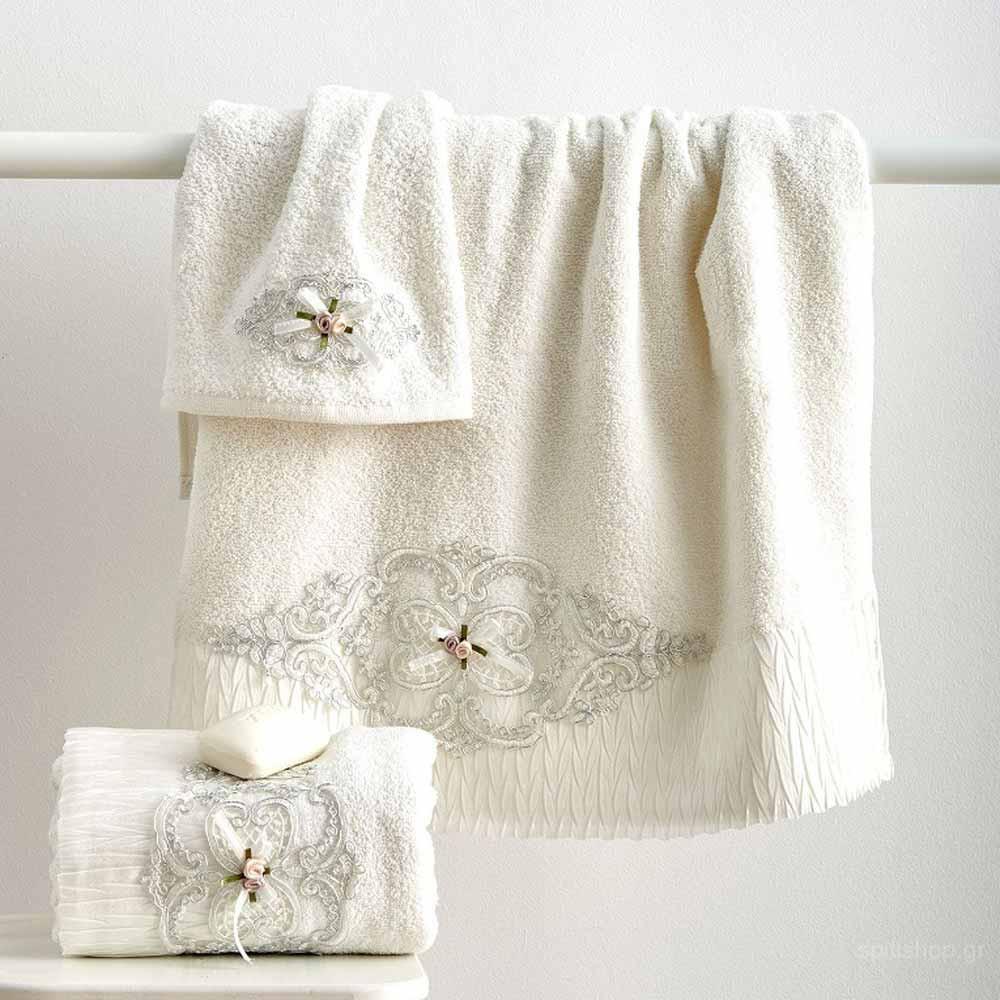 Πετσέτες Προσώπου (Σετ 2τμχ) Sb Home Emily