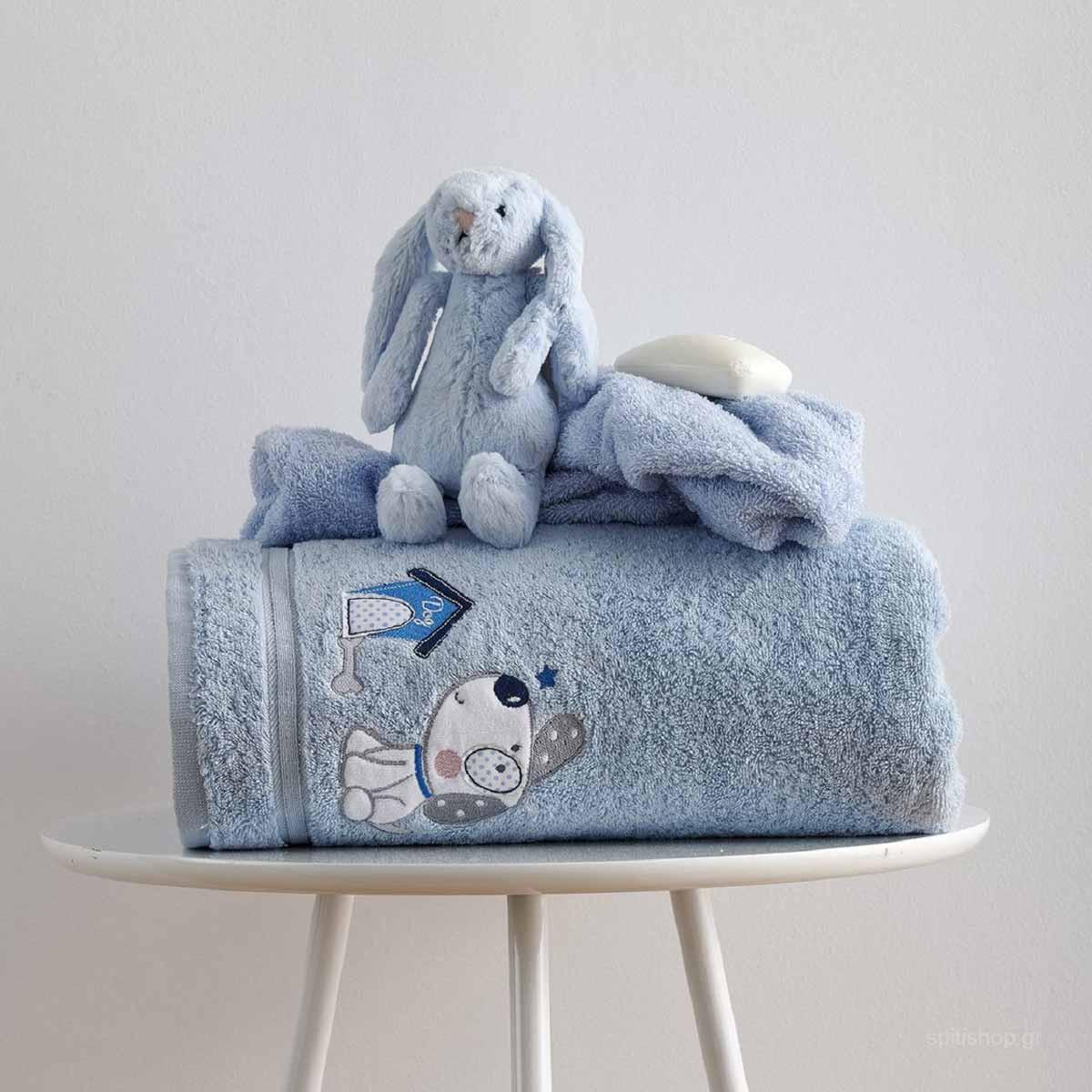 Βρεφικές Πετσέτες (Σετ 2τμχ) Sb Home Baby Puppy Blue