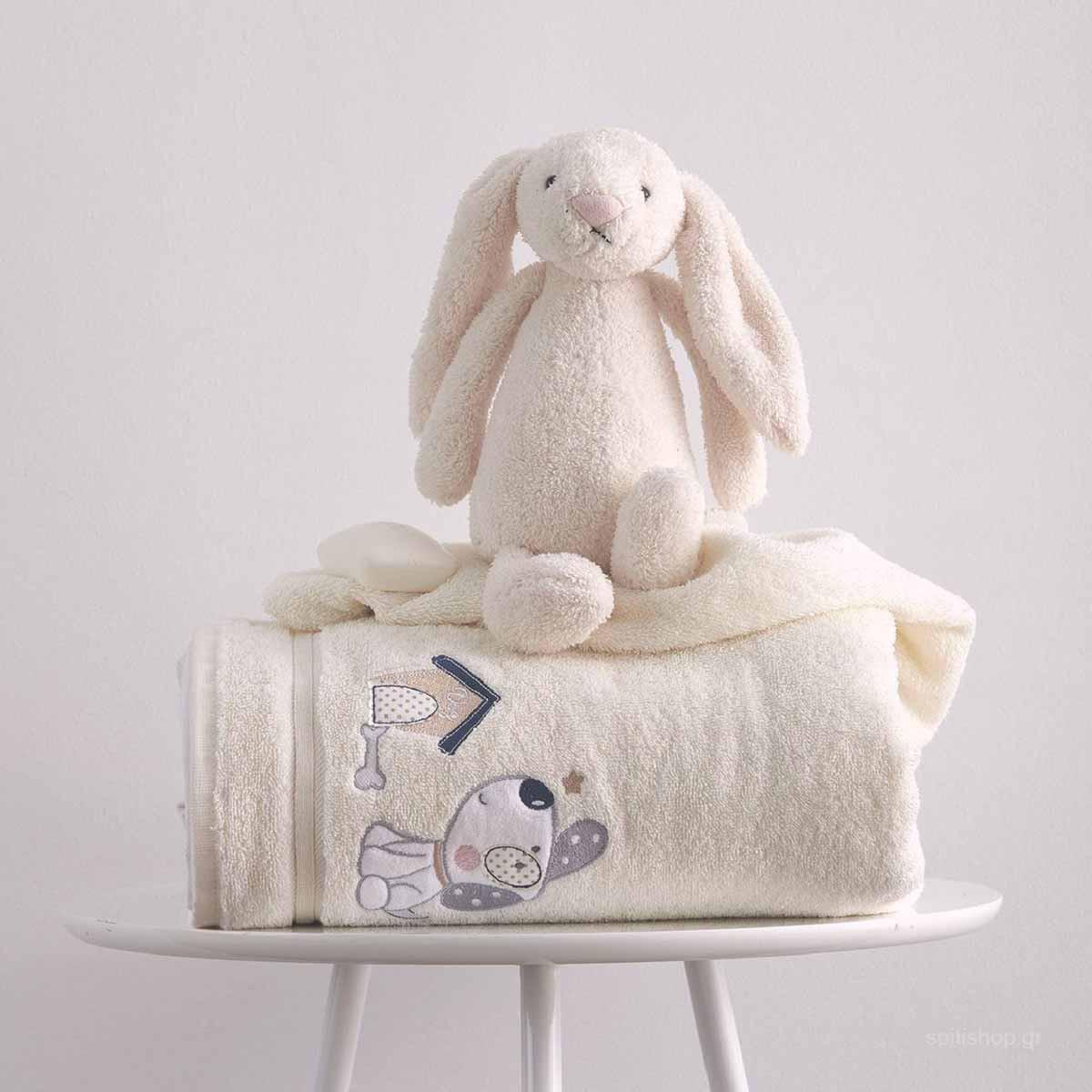 Βρεφικές Πετσέτες (Σετ 2τμχ) Sb Home Baby Puppy Cream