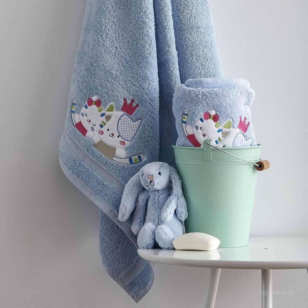 Βρεφικές Πετσέτες (Σετ 2τμχ) Sb Home Baby Gattino Blue