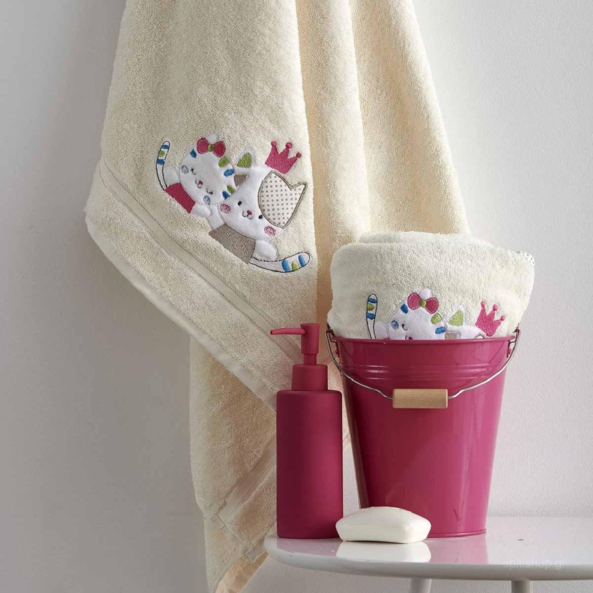 Βρεφικές Πετσέτες (Σετ 2τμχ) Sb Home Baby Gattino Cream