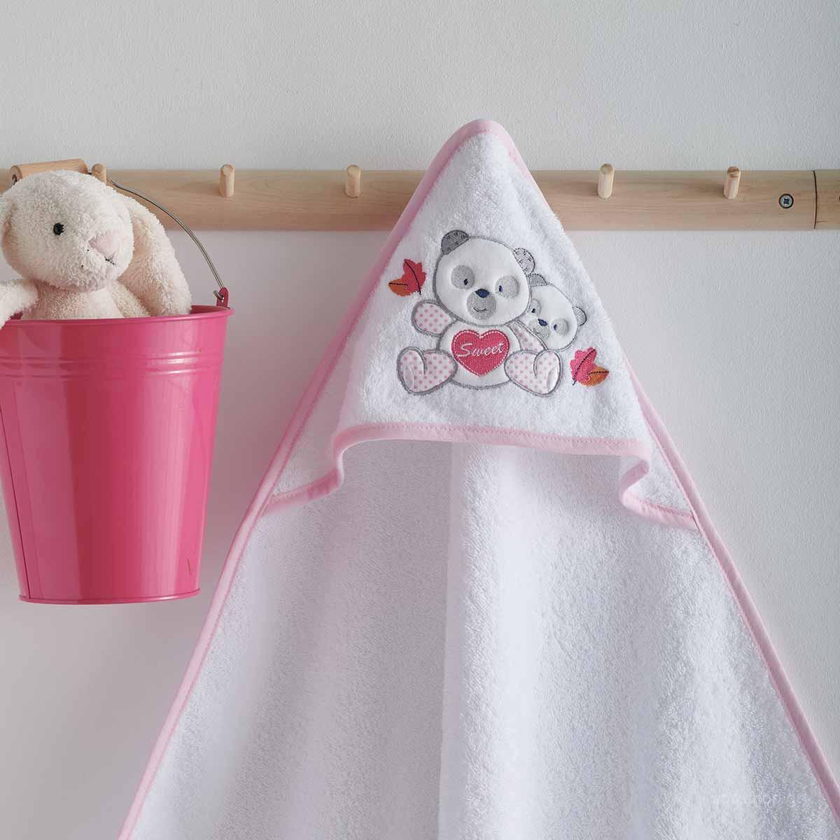 Βρεφική Κάπα Sb Home Baby Panda Pink