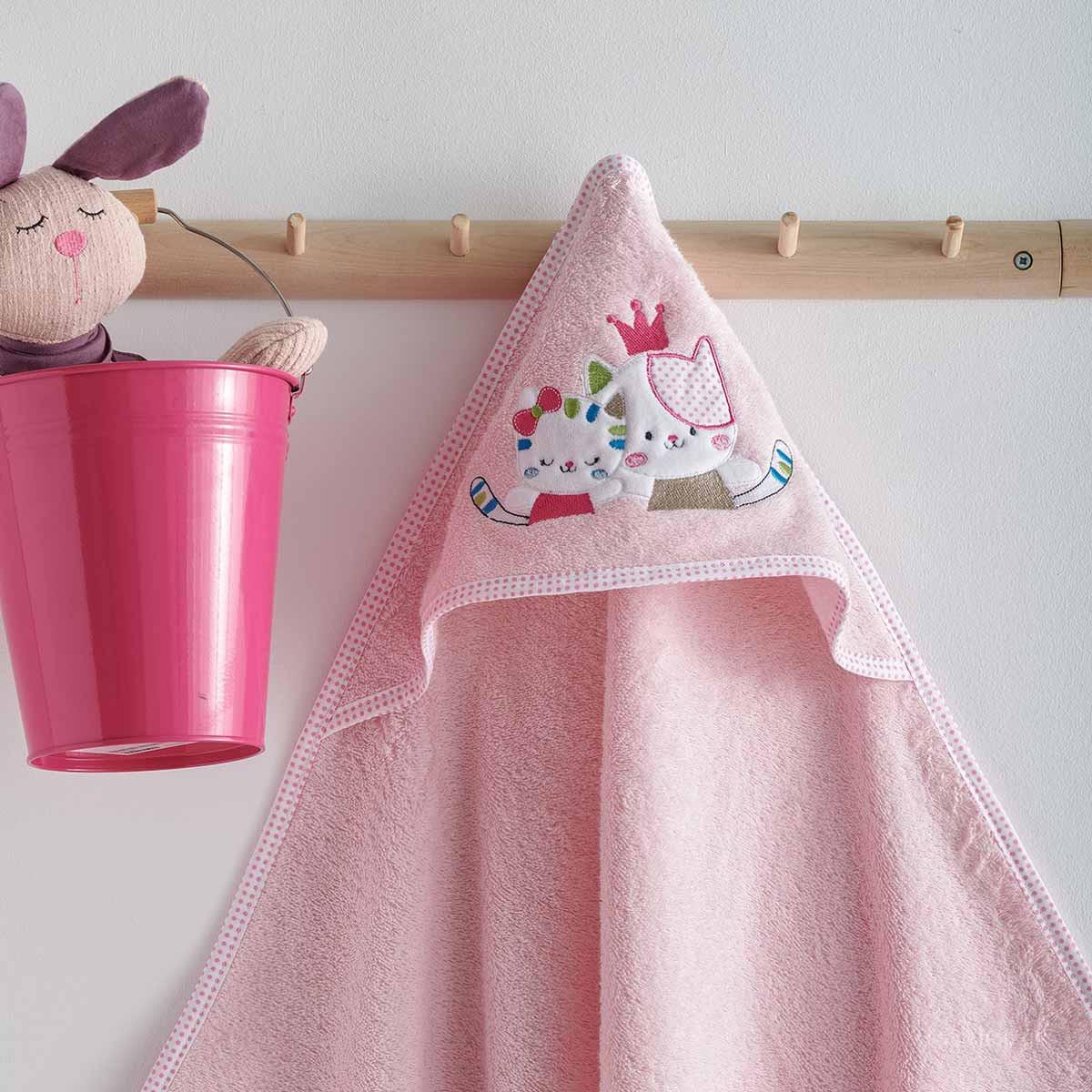 Βρεφική Κάπα Sb Home Baby Gattino Pink