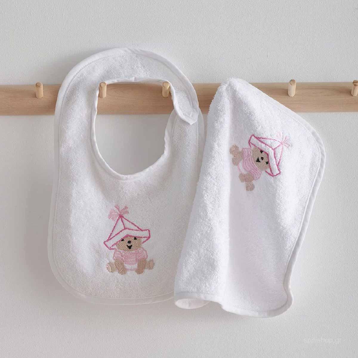 Βρεφική Λαβέτα (30×30) Sb Home Baby Artizan Pink