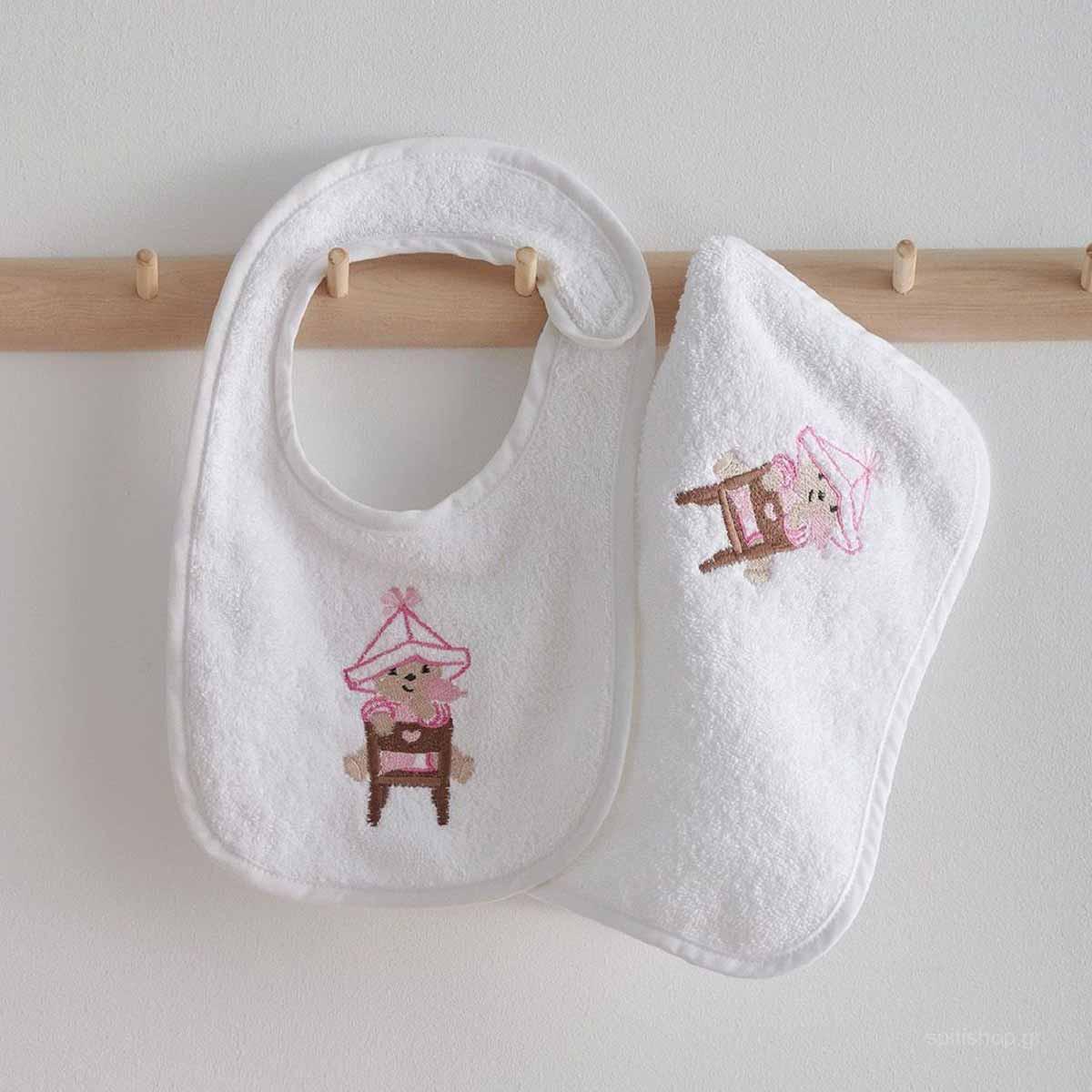 Βρεφική Λαβέτα (30×30) Sb Home Baby Smart Pink