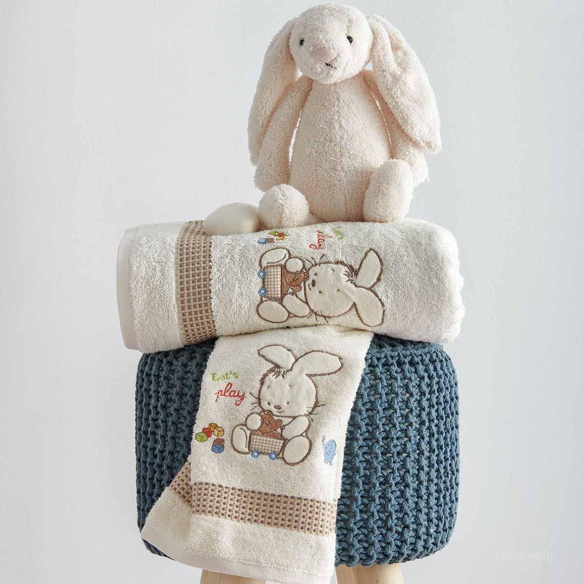 Βρεφικές Πετσέτες (Σετ 2τμχ) Sb Home Bunny Cream