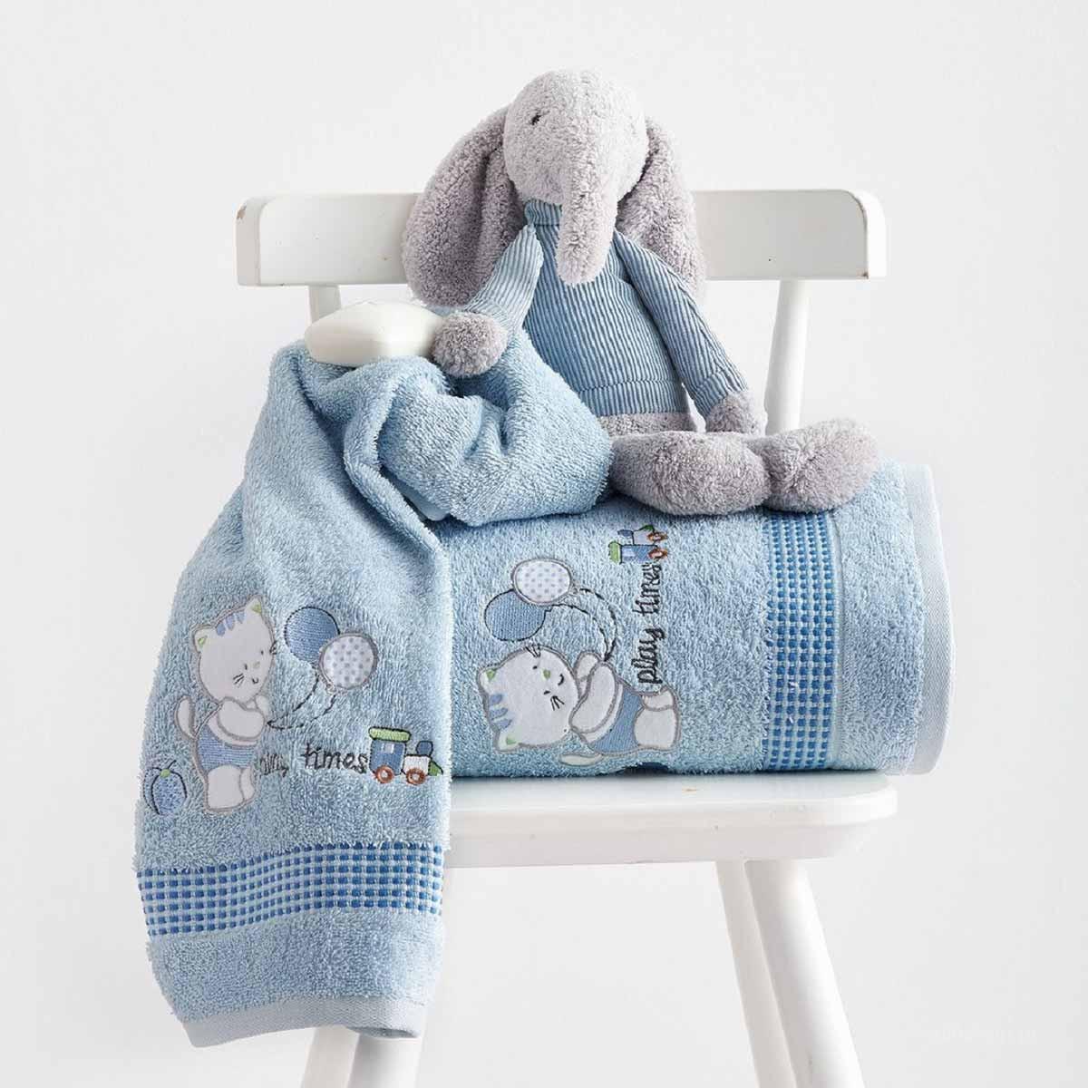 Βρεφικές Πετσέτες (Σετ 2τμχ) Sb Home Kitten Blue
