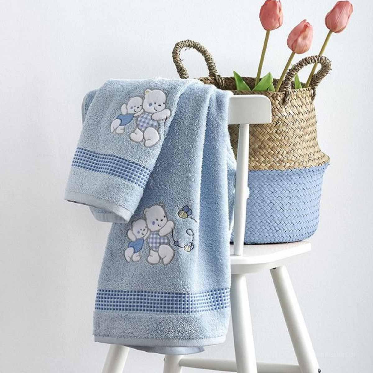 Βρεφικές Πετσέτες (Σετ 2τμχ) Sb Home Teddy Bear Blue