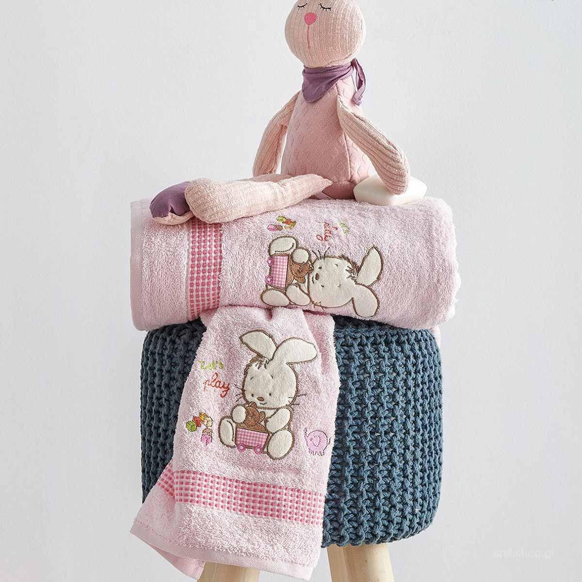 Βρεφικές Πετσέτες (Σετ 2τμχ) Sb Home Bunny Pink