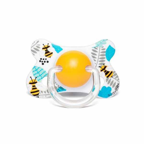 Πιπίλα Σιλικόνης Φυσιολογική 4-18Μ Suavinex Bees