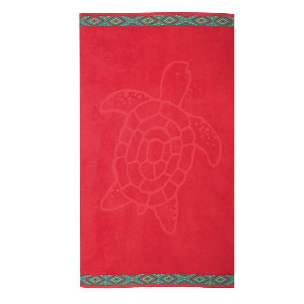 Παιδική Πετσέτα Θαλάσσης Nef-Nef Turtle Red