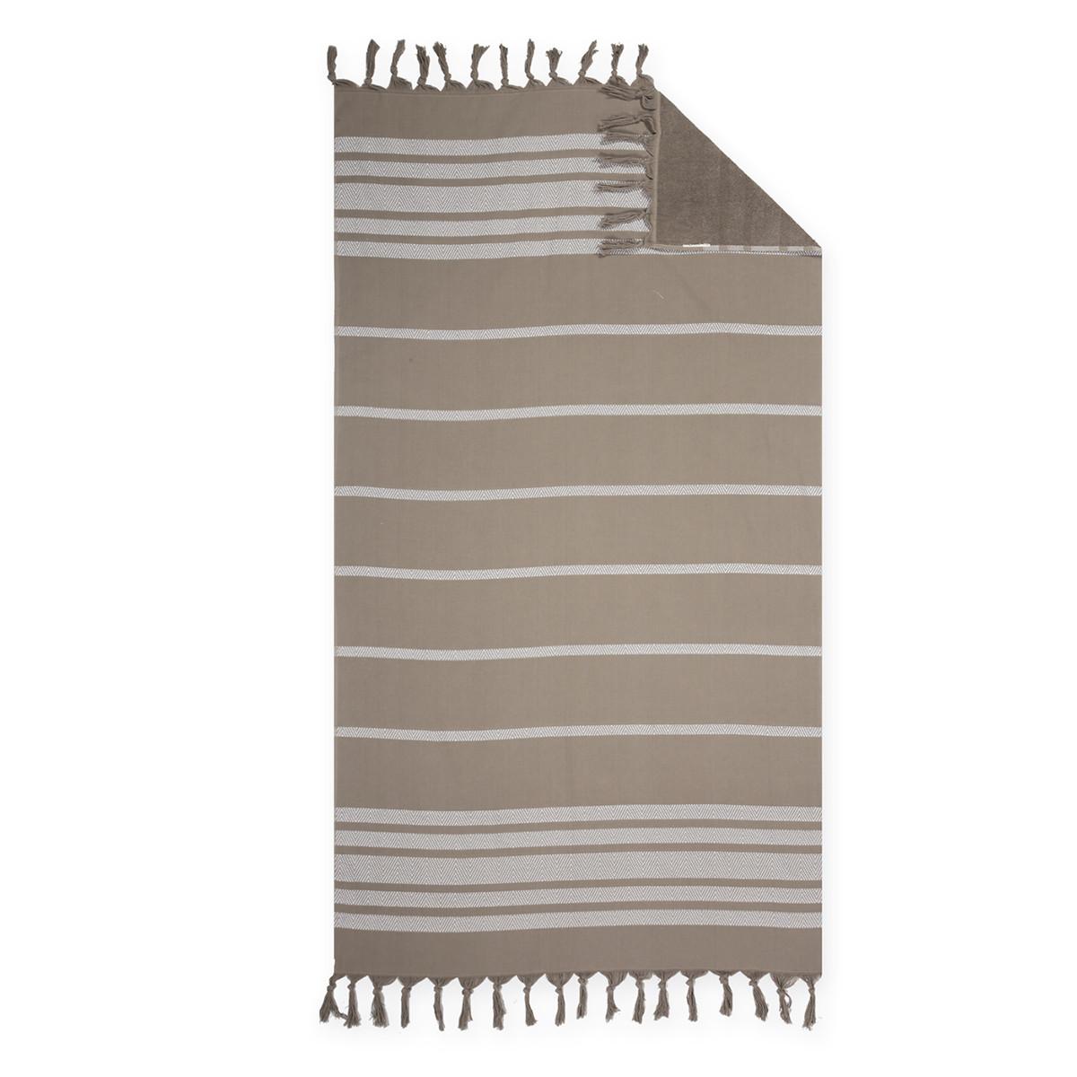 Πετσέτα Θαλάσσης – Παρεό Nef-Nef Reflect Brown