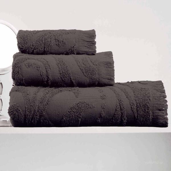 Πετσέτες Μπάνιου (Σετ 3τμχ) Makis Tselios Zackar Grey