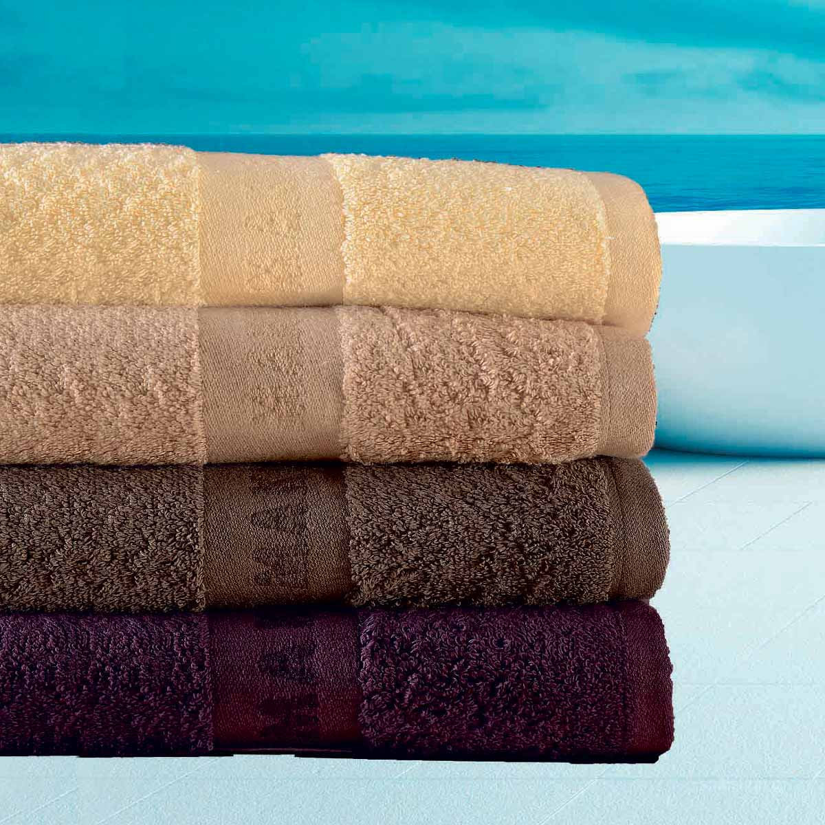 Πετσέτες Προσώπου (Σετ 4τμχ) Makis Tselios Chic No1