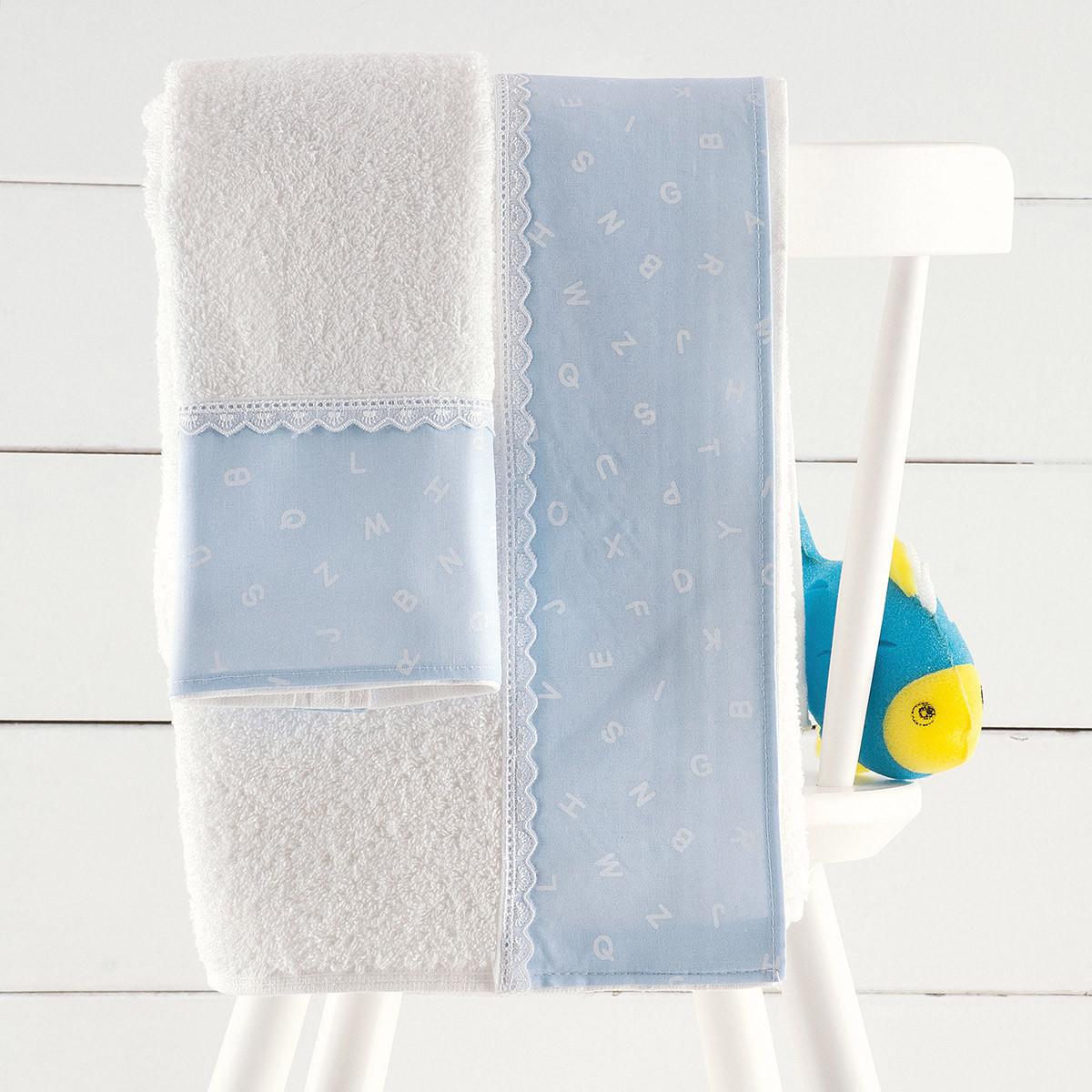 Βρεφικές Πετσέτες (Σετ 2τμχ) Rythmos Letters Blue