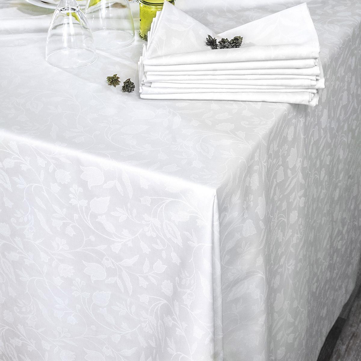 Τραπεζομάντηλo 12 Ατόμων (160×270) Rythmos Bensimon White