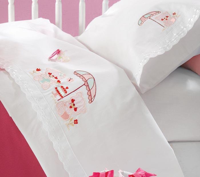Σεντόνια Κούνιας (Σετ) Rythmos Cake Pink