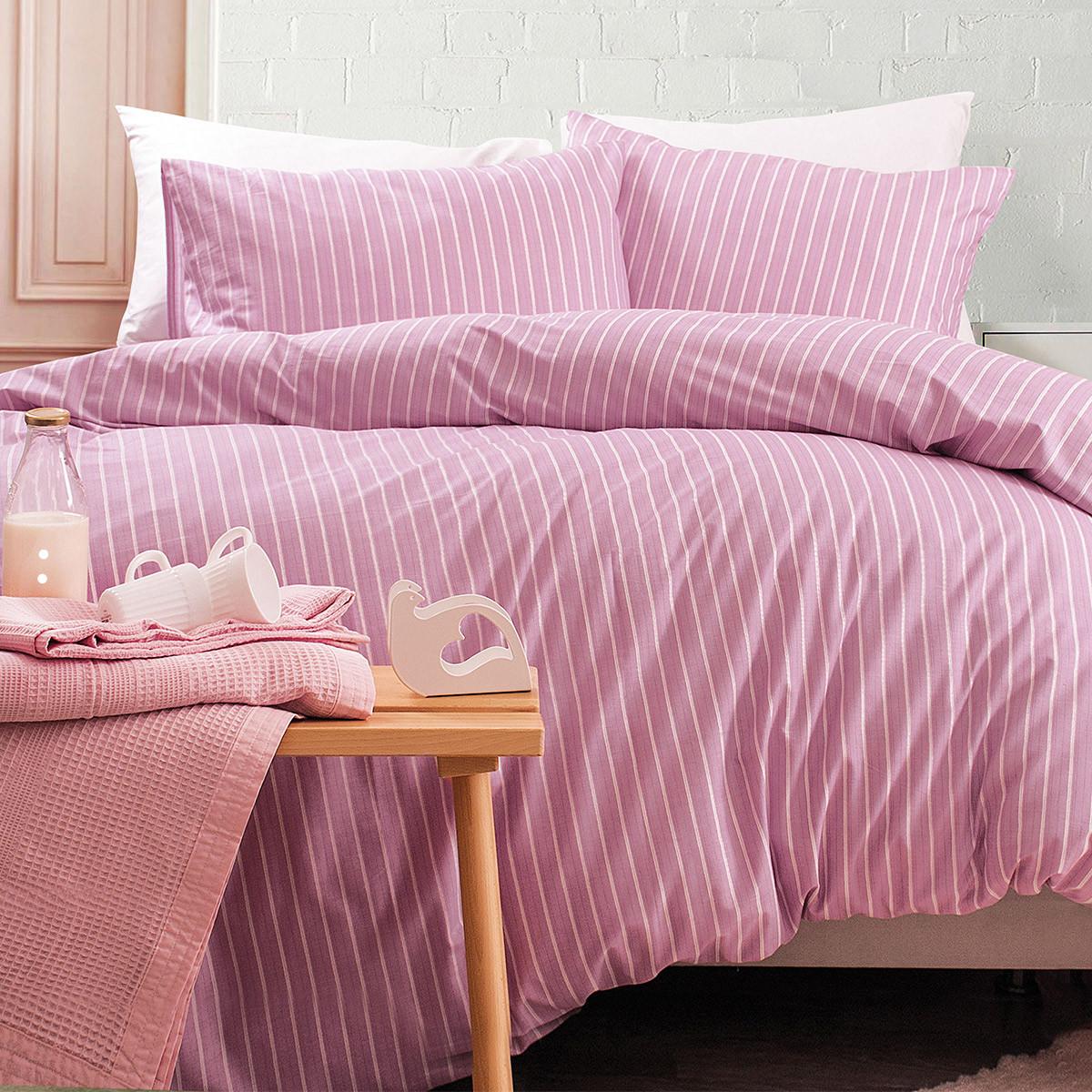 Παπλωματοθήκη Υπέρδιπλη (Σετ) Rythmos Nova Granada Pink