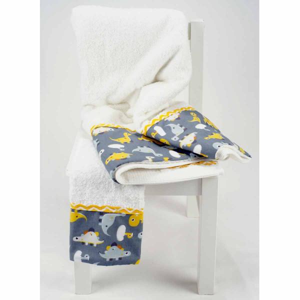 Βρεφικές Πετσέτες (Σετ 2τμχ) Ninna Nanna Little Dino