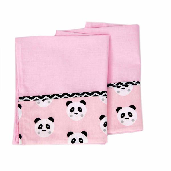 Σεντόνι Λίκνου (70x100) Ninna Nanna Pink Panda