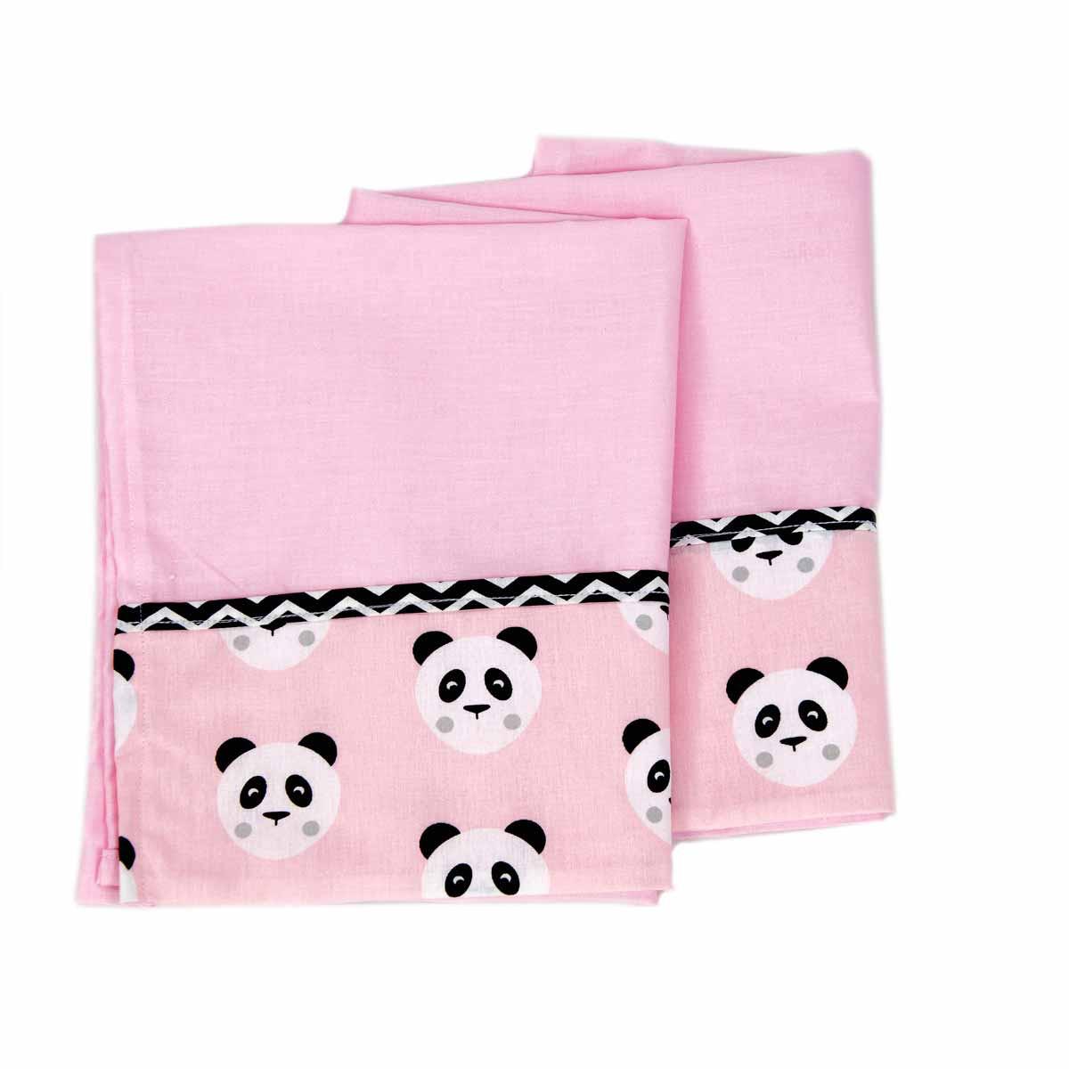 Σεντόνι Λίκνου (70×100) Ninna Nanna Pink Panda