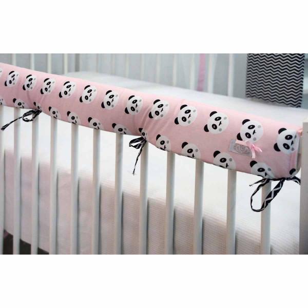 Προστατευτικό Για Κουπαστή Κούνιας Ninna Nanna Pink Panda