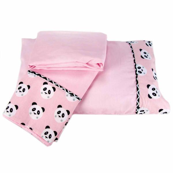Σεντόνια Κούνιας (Σετ) Ninna Nanna Pink Panda