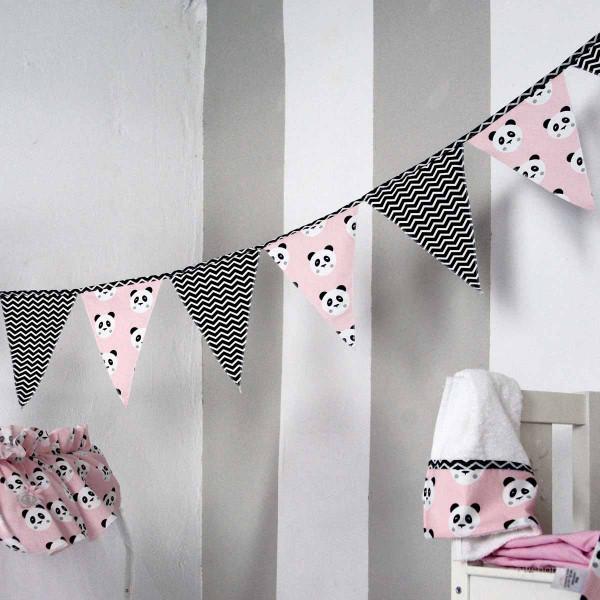 Διακοσμητικά Σημαιάκια Ninna Nanna Pink Panda