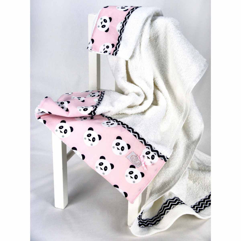 Βρεφικές Πετσέτες (Σετ 2τμχ) Ninna Nanna Pink Panda