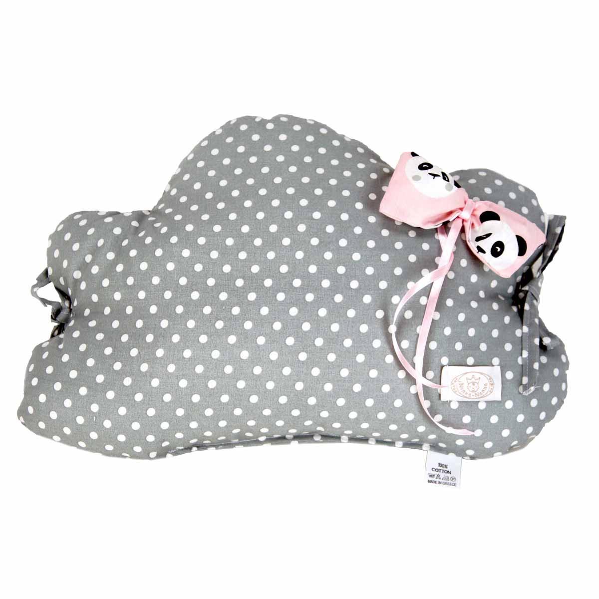 Προστατευτικό Μαξιλάρι Κούνιας Ninna Nanna Pink Panda Συννεφάκι