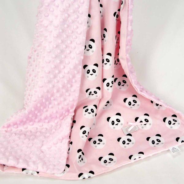 Κουβέρτα Minky Κούνιας Ninna Nanna Pink Panda