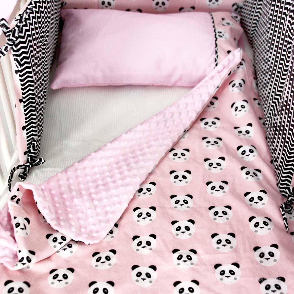 Κουβέρτα Minky Αγκαλιάς Ninna Nanna Pink Panda